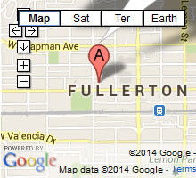 bail bonds fullerton map